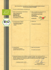 Bio Zertifikat 2019