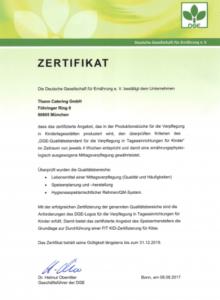 DGE Zertifikat 2017